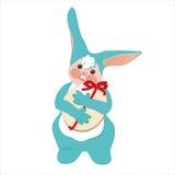 Pasen-konijnblauw Royalty-vrije Stock Afbeeldingen