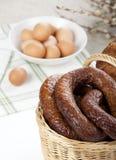 Pasen-mand met koud vlees Royalty-vrije Stock Afbeelding