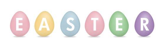 Pasen met eieren vector illustratie