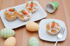 Pasen-Muffins stock foto's