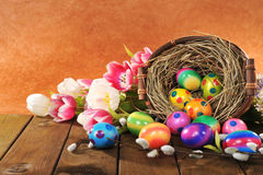 Pasen-nest Royalty-vrije Stock Foto