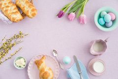 Pasen-ontbijt Stock Fotografie