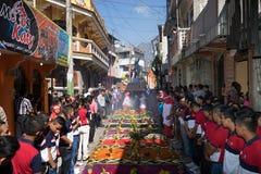 Pasen-optocht in Guatemala Royalty-vrije Stock Afbeeldingen