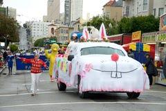 Pasen-Parade in San Francisco, Unie Straat Royalty-vrije Stock Afbeeldingen