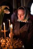Pasen, parochianen van de Orthodoxe Kerk. royalty-vrije stock foto