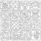 Pasen-patroon in een kinderen` s stijl Royalty-vrije Stock Afbeelding