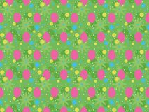 Pasen-Patroon - groene achtergrond Stock Foto