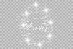 Pasen-prentbriefkaar met eieren en wensen Vector royalty-vrije illustratie