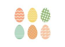 Pasen-reeks eieren Stock Afbeeldingen