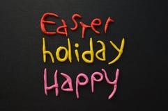 Pasen-Vakantiesamenstelling in Wit, Zwarte, Roze, Rood en Geel Stock Afbeeldingen