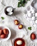 Pasen verfraaide eieren royalty-vrije stock afbeelding