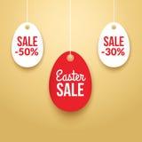 Pasen-Verkoop achtergrondaffiche met eieren en kortingenpercentage Royalty-vrije Stock Foto's