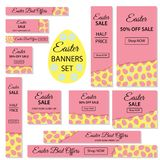 Pasen-Verkoop Inzameling van Pasen-banners voor websites vector illustratie