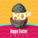 Pasen-verkoop, seizoenaanbiedingen en kortingen vector illustratie