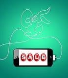 Pasen-verkoopconcept. Stock Illustratie
