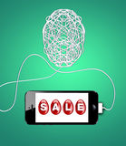 Pasen-verkoopconcept. Vector Illustratie