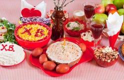 Pasen-voedsel Stock Foto's