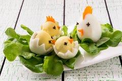 Pasen-voorgerecht van gekookte eieren stock afbeelding