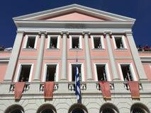 Pasen-Zaterdag in St Spiridon Vierkant, de Stad van Korfu Stock Foto