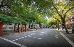 Paseo萨缅托步行街道- Mendoza,阿根廷 免版税库存图片