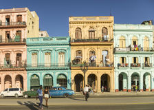 Paseo马蒂在哈瓦那古巴 免版税库存图片