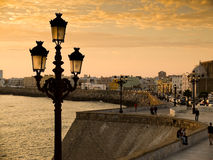 Paseo Campo del Sur. Cadiz, Spain. Royalty Free Stock Photo