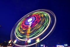 Paseo colorido de la exposición en la noche Fotos de archivo libres de regalías