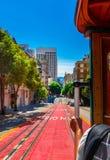Paseo con el teleférico en San Francisco Fotografía de archivo
