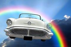 Paseo convertible ideal americano de las nubes del cielo de la fantasía imágenes de archivo libres de regalías