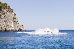 Paseo de alta velocidad del barco Imagen de archivo libre de regalías