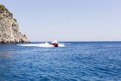 Paseo de alta velocidad del barco Foto de archivo libre de regalías