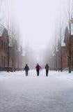 Paseo de Auschwitz Fotos de archivo libres de regalías