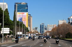 Paseo de Castellana, Мадрид Стоковые Фото