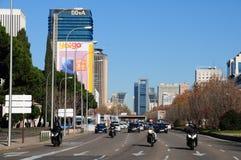 Paseo de Castellana, Madrid Stockfotos
