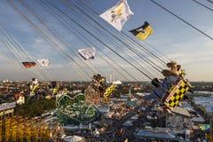 Paseo de Chairoplane en Oktoberfest en Munich, Alemania, 2016 Foto de archivo