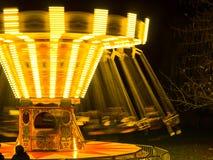 Paseo de giro del parque de atracciones foto de archivo libre de regalías