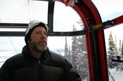 Paseo de Goldola del individuo del esquí imágenes de archivo libres de regalías