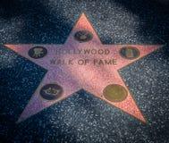 Paseo de Hollywood de la estrella de la fama Foto de archivo libre de regalías