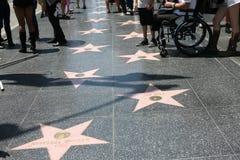 Paseo de Hollywood de las estrellas de la fama Foto de archivo