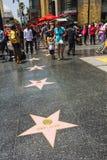 Paseo de Hollywood de las estrellas de la fama Imágenes de archivo libres de regalías