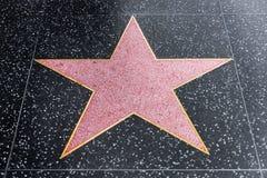 Paseo de Hollywood de la estrella del espacio en blanco de la fama fotos de archivo
