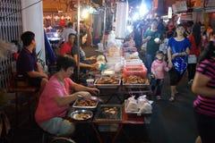 Paseo de Jonker en Melaka, Malasia imagenes de archivo