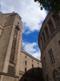 Paseo de la biblioteca, Manchester Reino Unido Imagen de archivo