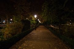 Paseo de la Bomba Park i Granada, Spanien arkivfoto