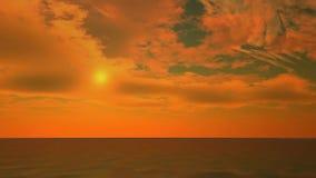 Paseo de la cámara sobre el océano con el cielo hermoso almacen de metraje de vídeo