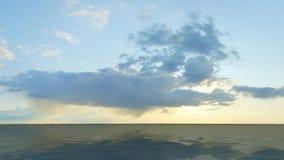 Paseo de la cámara sobre el océano con el cielo hermoso metrajes