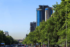 Paseo de la Castellana, Madrid Royalty Free Stock Photography