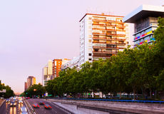Paseo de la Castellana.  Madrid, Spain Royalty Free Stock Images