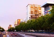 Paseo de la Castellana Madrid, Spanien Lizenzfreie Stockbilder