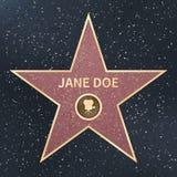 Paseo de la celebridad del actor de la película de Hollywood de la estrella de la fama Ilustración del vector stock de ilustración